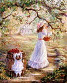 """Picking Apples"" www.sfago.com Sharon Abbott-Furze"